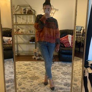 Metallic oversized Firever21 sweater